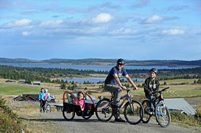 På sykkeltur på Øyerfjellet, ved Hafjell