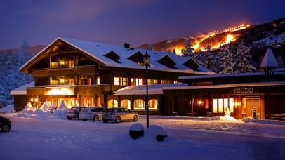 Hunderfossen Hotel & Resort in winter