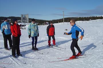 Skiinstruksjon på Nordseter
