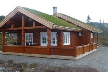 Hytte med gresstak, Norgesbooking