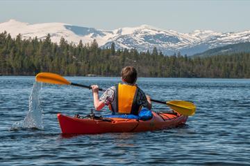 Kayaking on the lake Espedalen