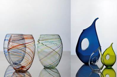 Glass kunst fra Hett Glass på Fabrikken