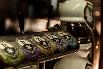 Tappekraner for øl på Lillehammer bryggeri