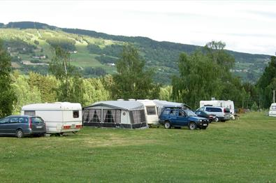 Caravans at Rybakken Camping