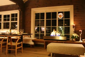 Living room in cabin on Mosetertoppen