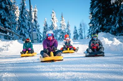 Kjelkekjøring i Lillehammer