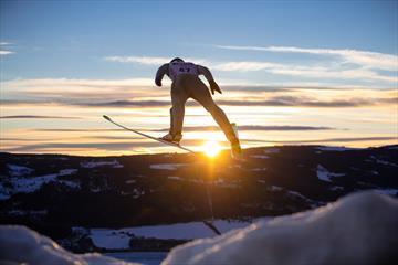 Skijumping in winter