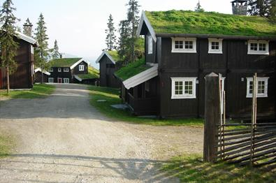 The yard at GudbrandsGard Hyttegrend