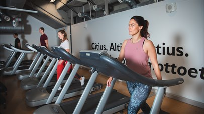 The fitness department in Håkons hall sports center