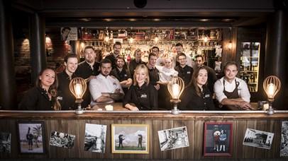 The employees at Heim Gastropub in LIllehammer