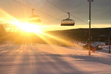 The ski lift - sunset