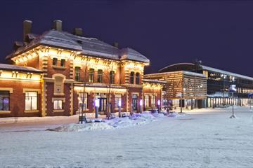 Lillehammer Stasjon i vinterdrakt