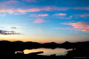 Solnedgang på Venabygdsfjellet | Venabu Fjellhotell