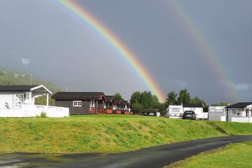 Rainbow over Odden Camping