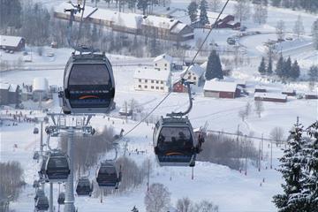 The gondol at Hafjell Alpine Center