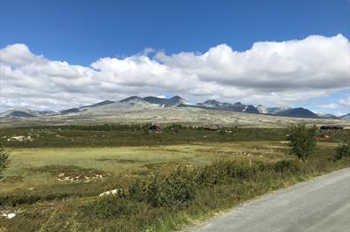 Cabins in a beatiful scenery in Rondane