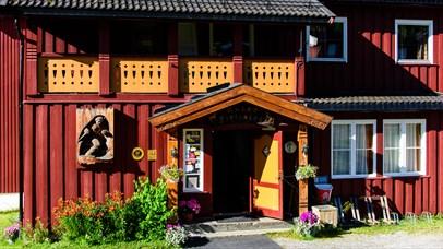 The entrance Ruten Fjellstue