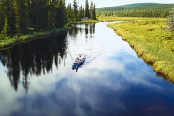 Canoeing in Åstdalen