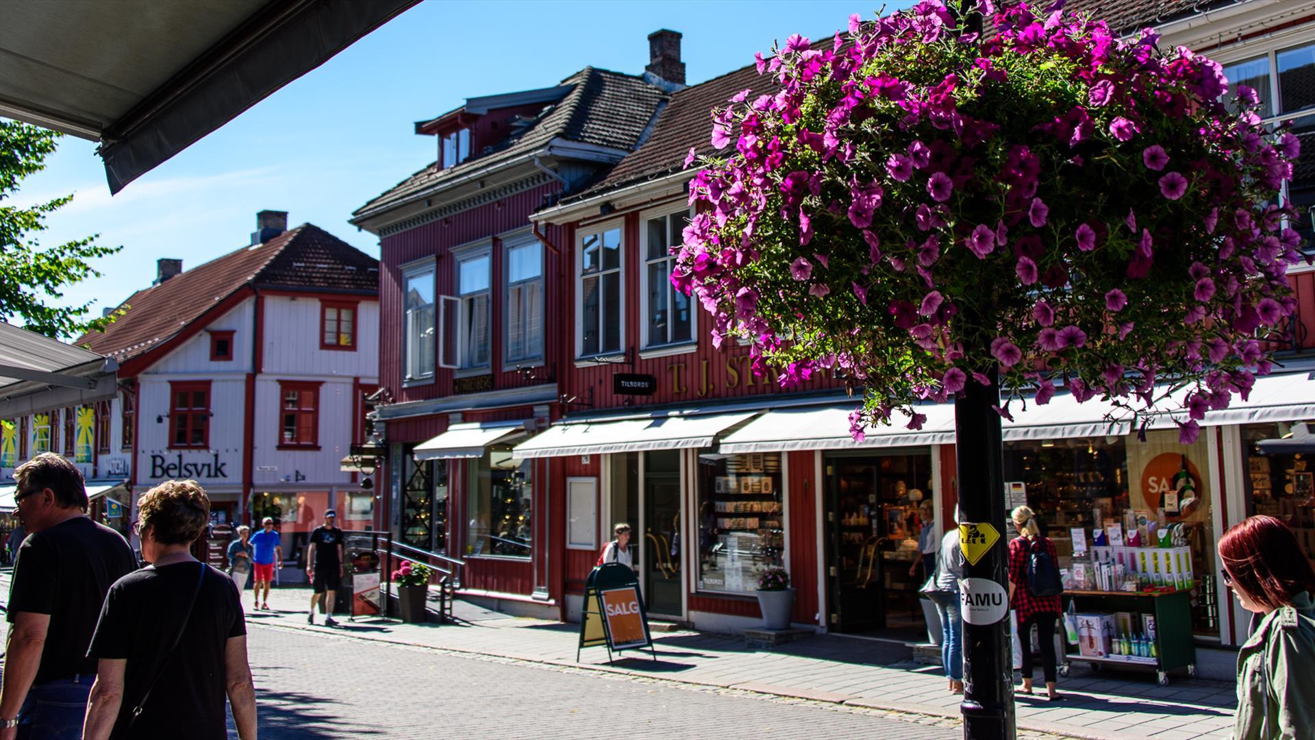 Fra gågata i Lillehammer, sommer