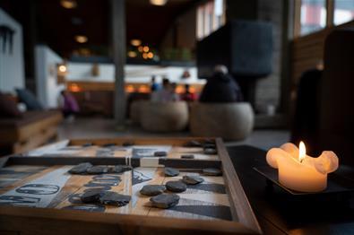 Lobby på Spåtind Fjellstue