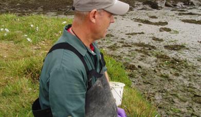 A marine biologist at work