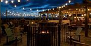 Stargazy restaurant at night
