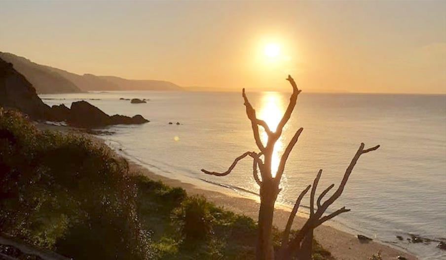 Plaidy Beach at sunset
