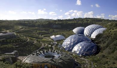 View of Eden Project domes