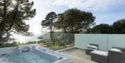 Talland Bay Hotel Room 20 - hot tub view