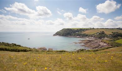 Talland Bay from coast path