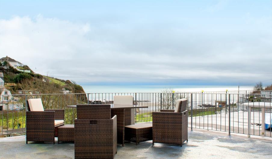 Bay View, Millendreath - balcony