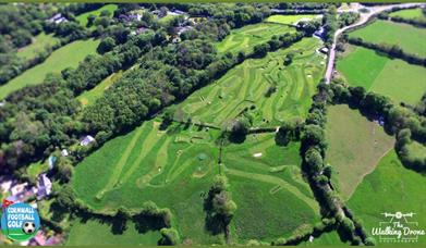 Cornwall FootballGolf Park - drone view