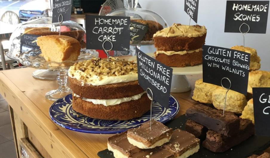 Tasty Corner - cake display