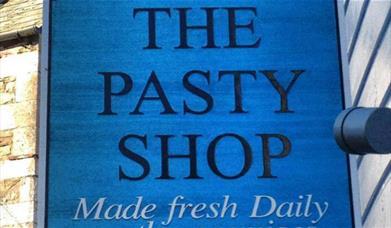 Sarah's Pasty Shop - sign