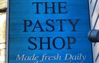 Sarah's Pasty Shop - sign