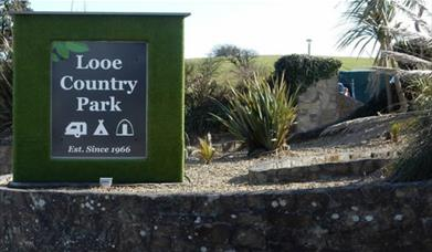 Looe Country Park - park sign