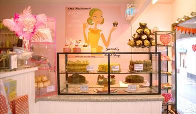 Sarah's Cake Shop - cake display