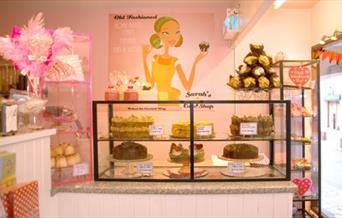 Sarah's Cake Shop - cake display