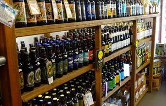 Purely Cornish Farm Shop & Deli - shelves of local produce