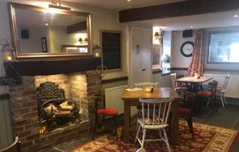 The Plough at Duloe - dining area