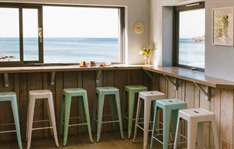 Talland Bay Beach Café - view from seating