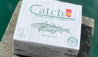 Catch - branded takeout box