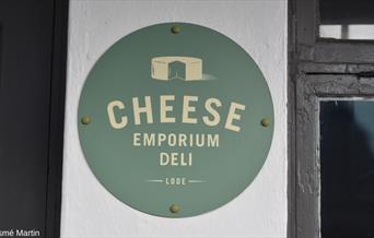 Cheese Emporium Deli - shop sign
