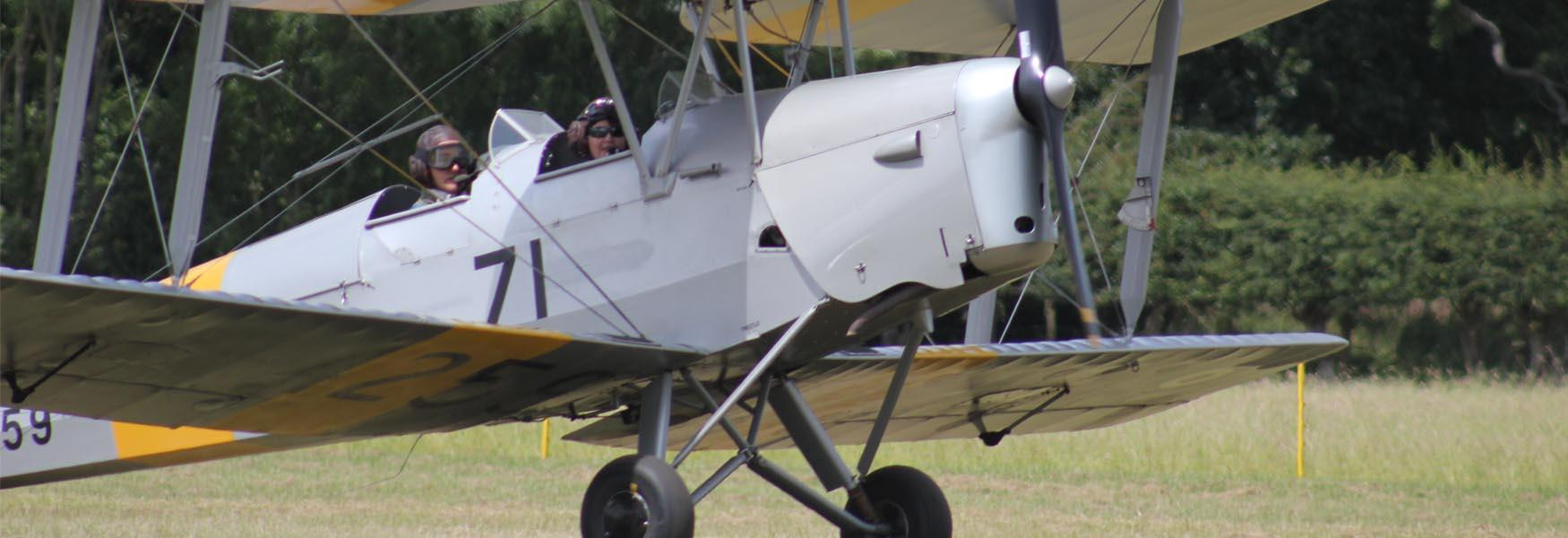 Flying in a Tiger Moth