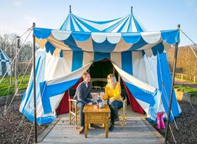 Glamping in Knights Tents at Leeds Castle