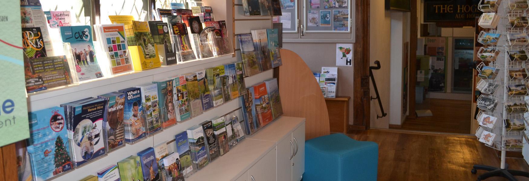 Leaflets at Tourist Information