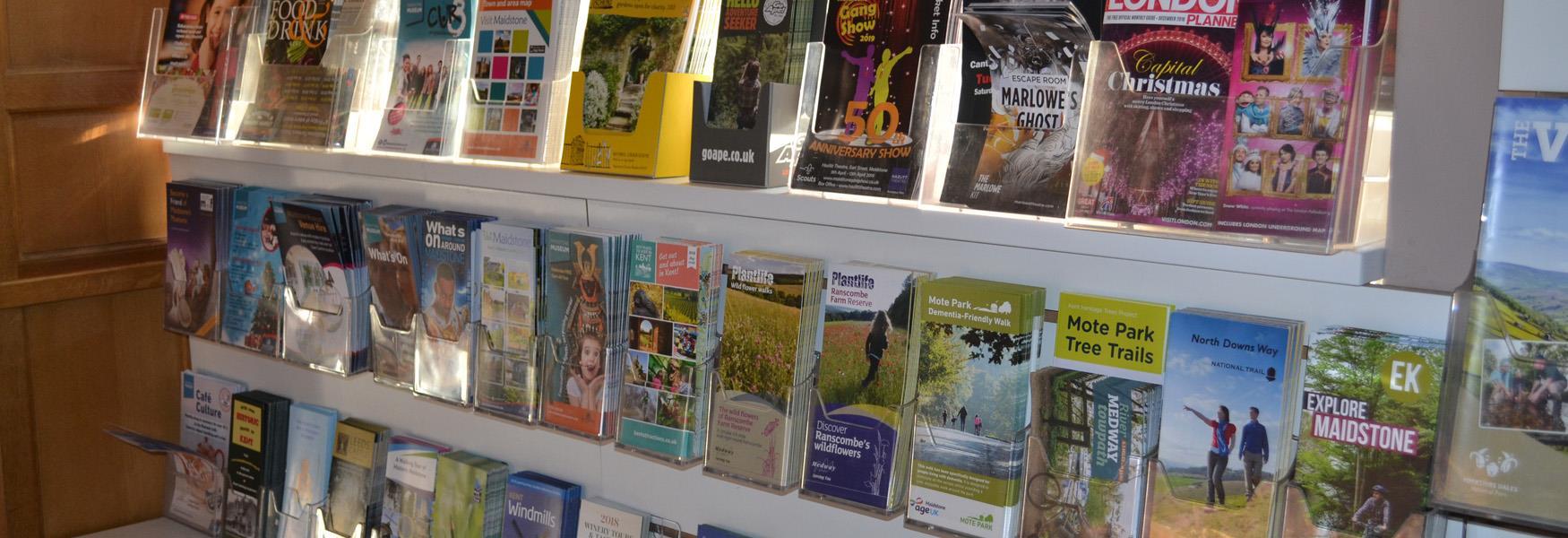 Leaflets at the Tourist Information Centre