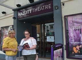 Outside the Hazlitt Theatre