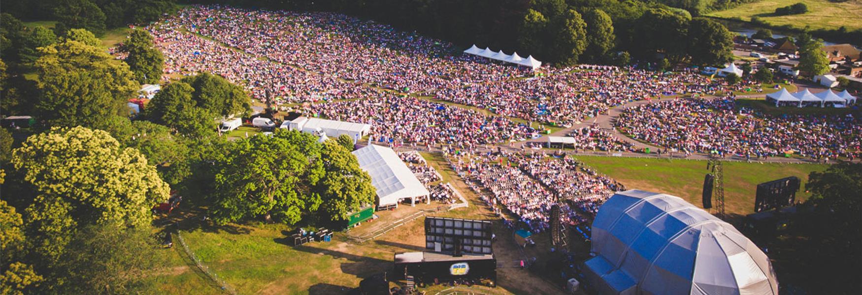 Leeds castle classical concert crowd