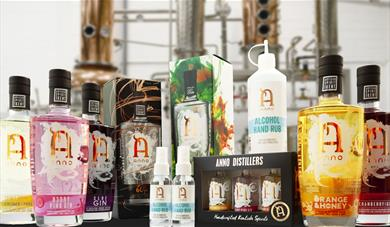 A selection of Anno Gins' and hand sanitizer